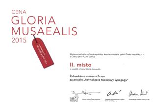 Gloria Musaealis 2015 - Kategorie Muzejní počin roku 2015, II. místo