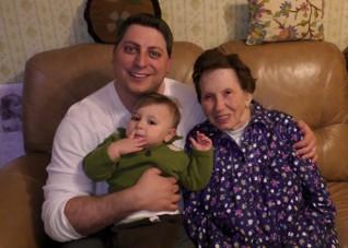 Rob Fried s rodinou -