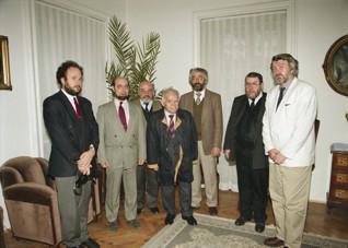 - Setkání s bývalým izraelským premiérem Jicchakem Šamirem, (1995)