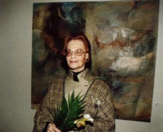6.png - Izraelská výtvarnice Ruth Levin v Klausové synagoze (1997)