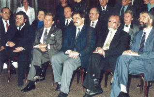 1.png - Opening ceremony of the Jewish Museum in Prague, 20th October 1994. From left: Czech Republic's Chief rabbi Karol Sidon, President of the Czech Republic Václav Havel, Deputy Prime Minister Josef Lux, Minister of Culture Pavel Tigrid and Director of the Jewish Museum in Prague Leo Pavlát