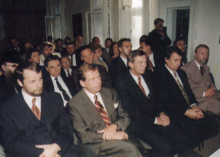 5.png - Opening ceremony of the Education and Cultural Center of the Jewish Museum in Prague attended by members of government an President of the Czech Republic, Václav Havel  (1996)