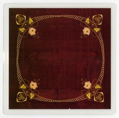 Podložka pod sklenici - Secesní textílie (Příbram))