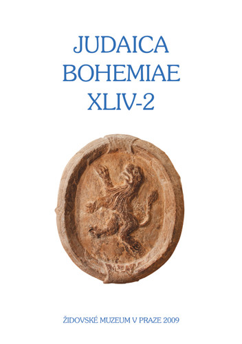 Judaica Bohemiae XLIV-2