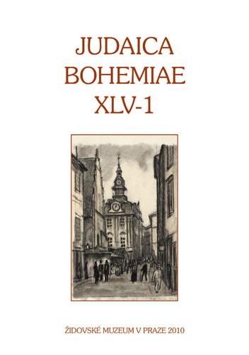 Judaica Bohemiae XLV-1
