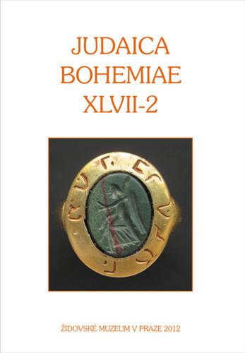 Judaica Bohemiae XLVII-2