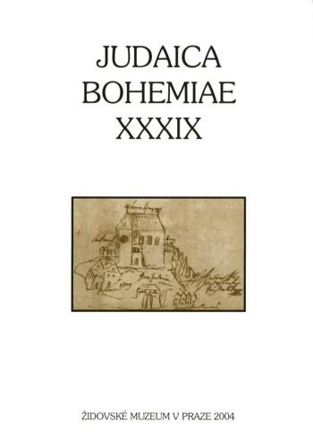 Judaica Bohemiae XXXIX