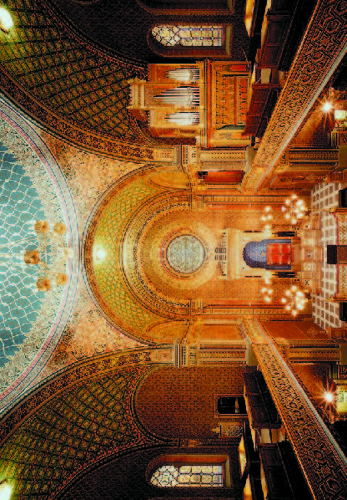 Španělská synagoga - svatostánek (horizontálně)