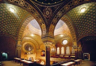 Španělská synagoga - pohled z galerie