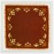 Coaster – Art Nouveau textile (Pelhřimov)