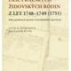 Fase pražských židovských rodin z let 1748 - 1749 (1751)