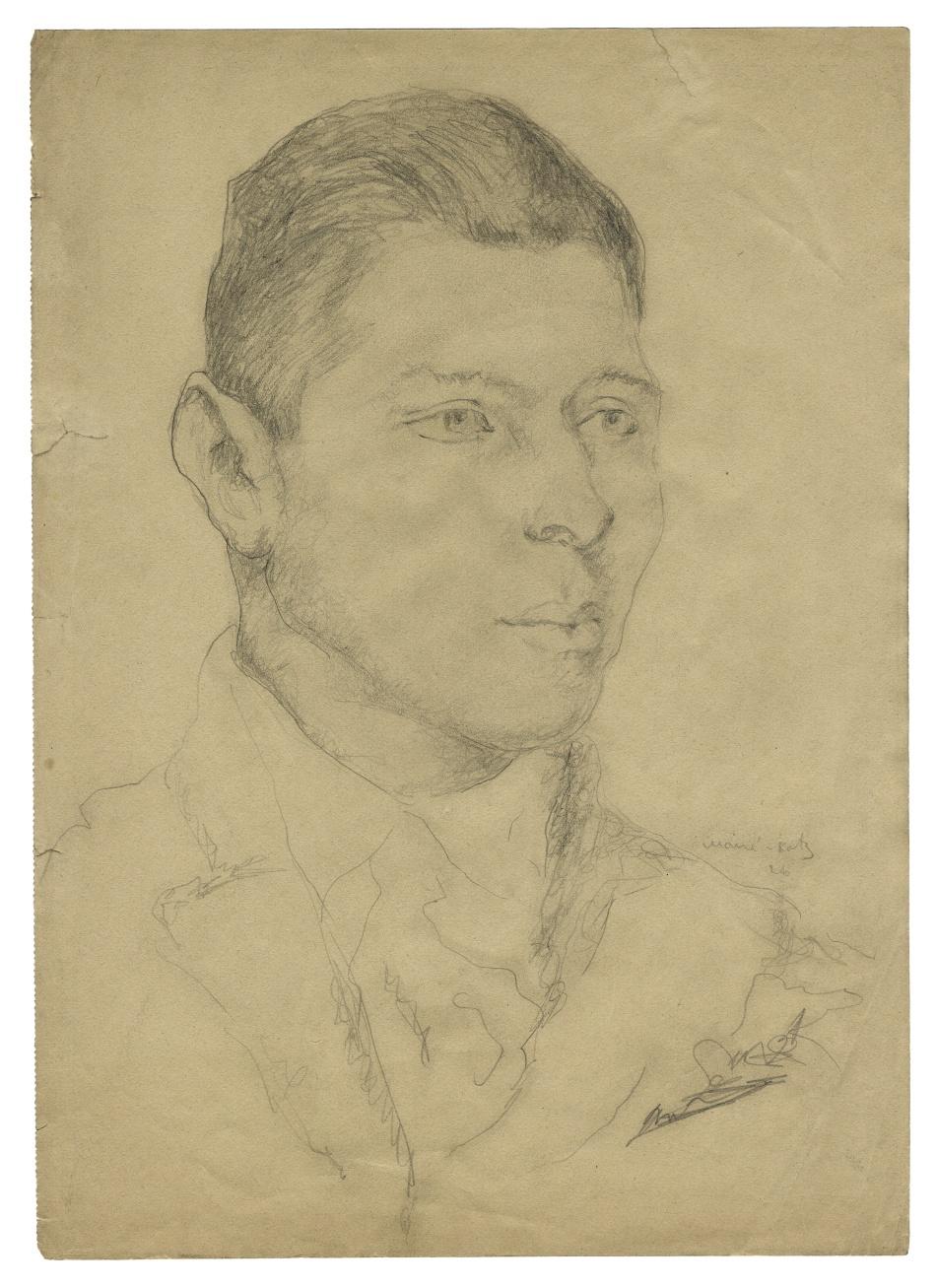 Portrét malíře Chaima Soutina (1893–1943)
