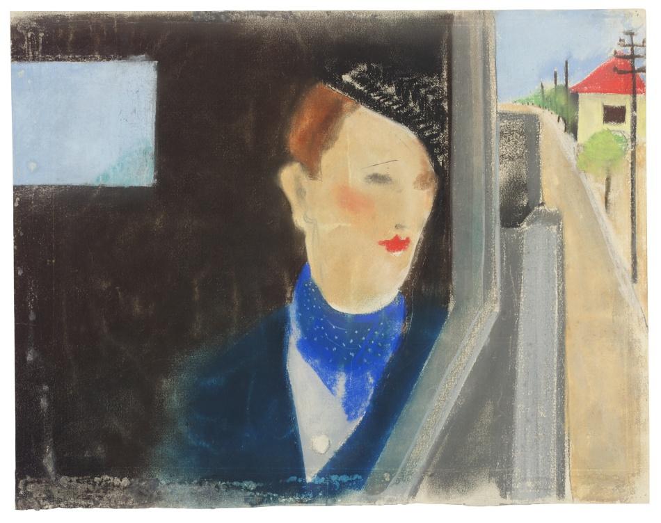 Dáma v automobilu (Autoportrét)