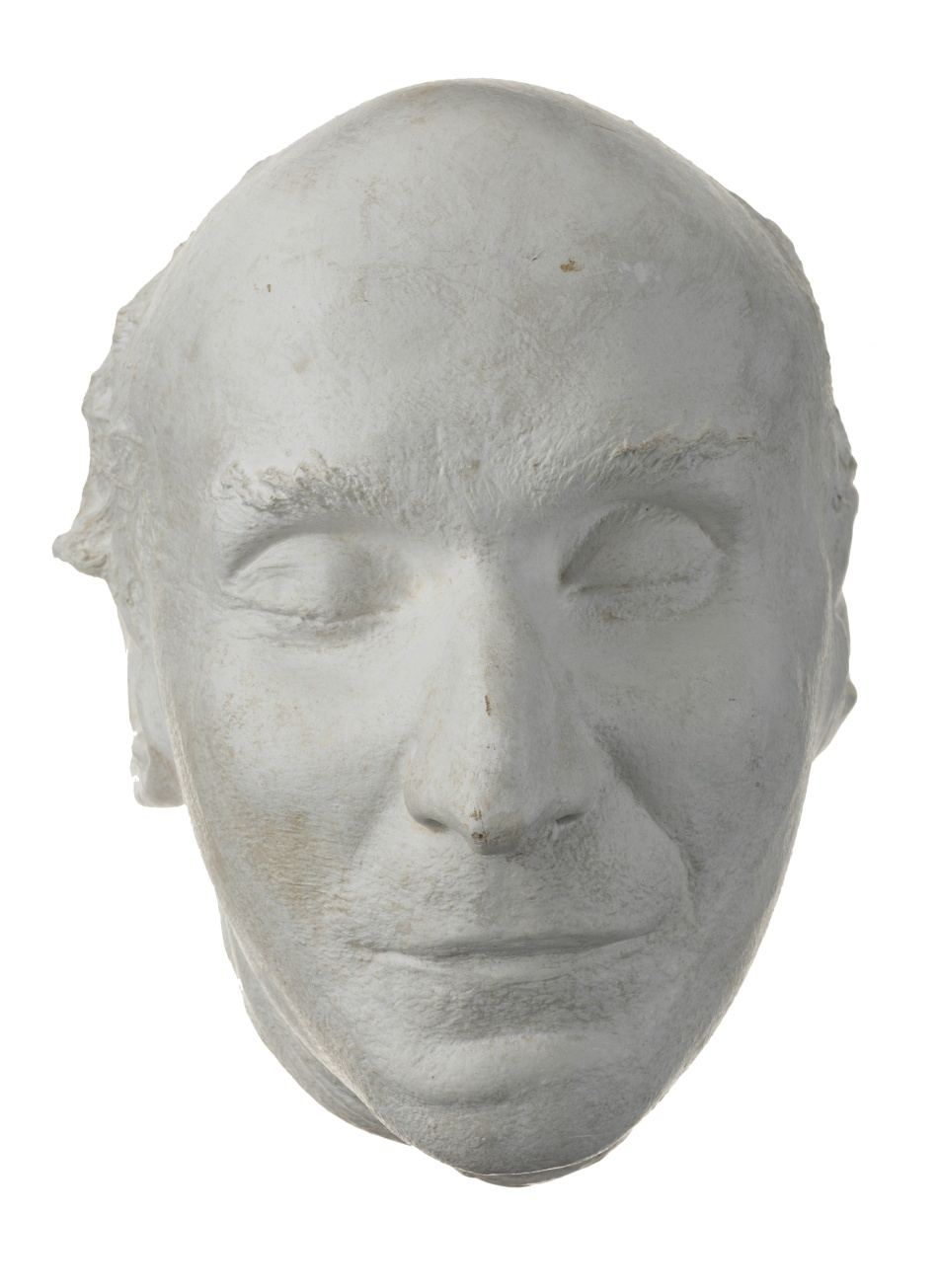 Posmrtná maska spisovatele Oskara Bauma (1883–1941)