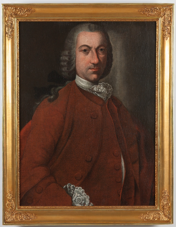 Portrét lékaře biskupa würzburského Mosese Bernharda Wolfsheimera (asi 1720 – asi 1782), otce Ester, manželky Gawriela Löwyho, lékárníka U zlatého lva v Praze