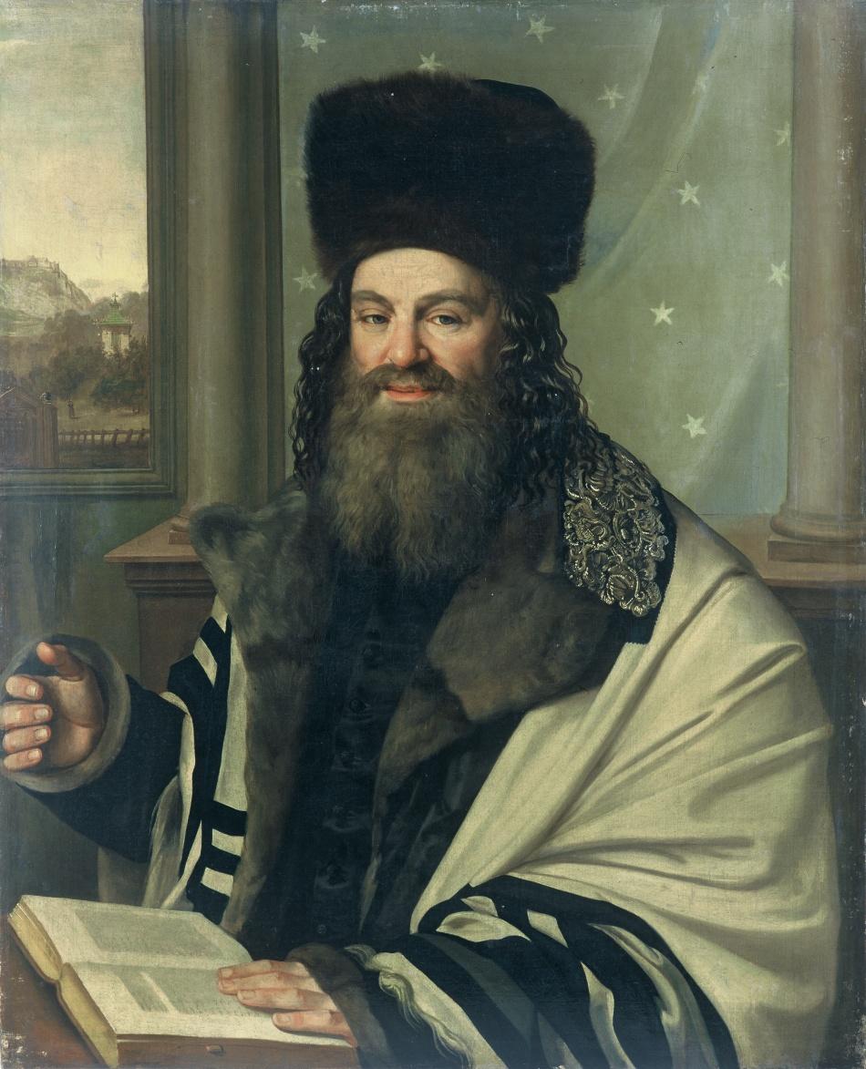 Portrét rabína Šlomo Judy Lejba Rapoporta (1790-1867)