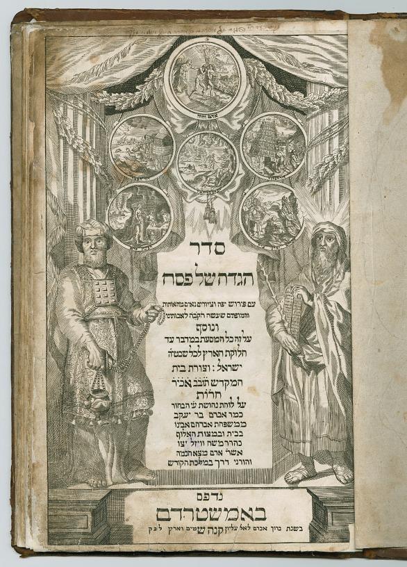 První amsterodamské vydání pesachové hagady s mědirytinami Jaakova ben Avrahama,