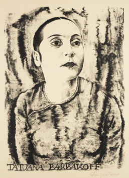 Portrét tanečnice Tatjany Barbakoff, 1926