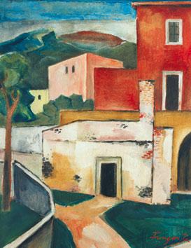 Červený dům s cestou, 1927/28