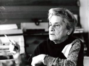 Hella Guthová při interview v Mortimeru v Readingu, 1985