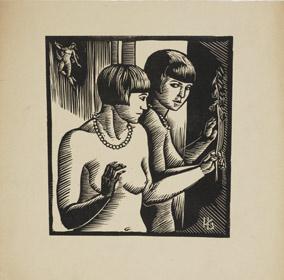 Hella Guthová: Před zrcadlem, 1929/30