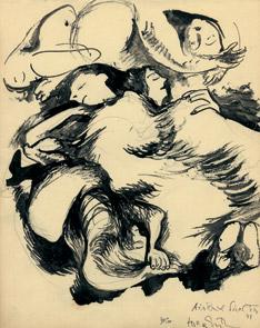 Hella Guthová: V protileteckém krytu, 1943