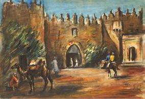 Damašská brána v Jeruzalémě, 1932/33