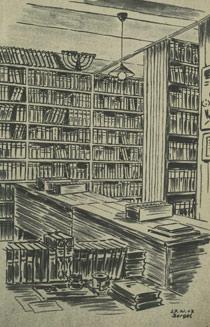 Alfred Bergel: Ústřední knihovna v Terezíně, 27. XI. 1943