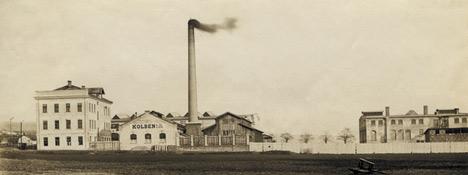 Závody Kolben a spol., elektrotechnická továrna v Praze-Vysočanech, kolem 1898
