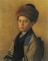 Isidor Kaufmann: Portrét chlapce, kolem 1900
