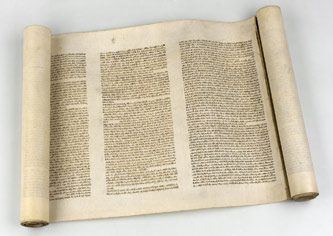 Fragment svitku Tóry, Morava (?), 19. století