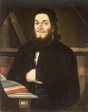 Anonym: Portrét Wolfa Moschelese, kolem 1790