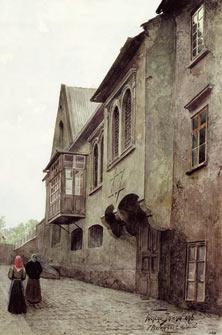 Václav Jansa, V Pinkasově ulici, 1896
