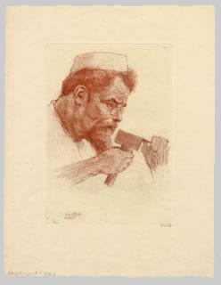 Max Klinger při práci, Lipsko, 1902