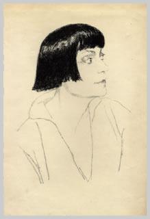 Asta Nielsen v Orlikově atelieru (1921)