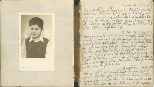 Zápis z deníku Jiřího Münzera z 27. ledna 1936.