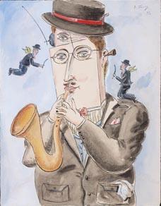 Hráč na saxofon, 1993
