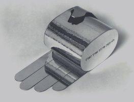 Pokladnička s napřaženou rukou, stříbro