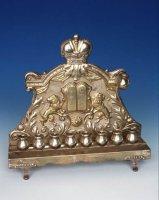 Chanukový svícen, stříbro, Československo, 1929-1939