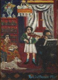 Malá houslistka (rodinný koncert), 1938